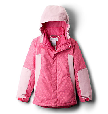 Manteau Whirlibird™ II Interchange pour fille Whirlibird™ II Interchange Jacket | 618 | XS, Pink Ice Sparklers, Pink Clover, back