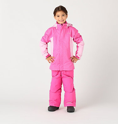 Manteau Whirlibird™ II Interchange pour fille Whirlibird™ II Interchange Jacket | 618 | XS, Pink Ice Sparklers, Pink Clover, front