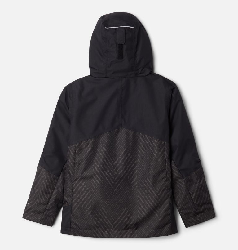Bugaboo™ II Fleece Interchange Jacket | 015 | XS Manteau Interchange en laine polaire Bugaboo II pour garçon, Black Chevron Print, Black, back