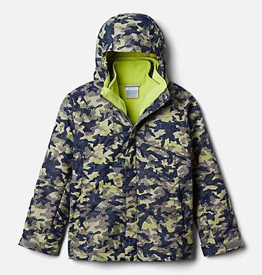 Boys' Bugaboo™ II Fleece Interchange Jacket Bugaboo™ II Fleece Interchange Jacket | 432 | XS, Bright Chartreuse Camo Print, front