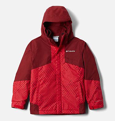 Boys' Bugaboo™ II Fleece Interchange Jacket Bugaboo™ II Fleece Interchange Jacket   615   XXS, Mtn Red Chevron Print, Red Jasper, front