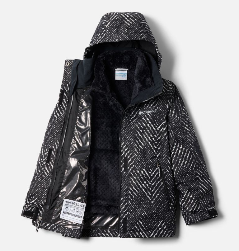 Bugaboo™ II Fleece Interchange Jacket | 012 | L Girls' Bugaboo™ II Fleece Interchange Jacket, Black Chevron Print, a2