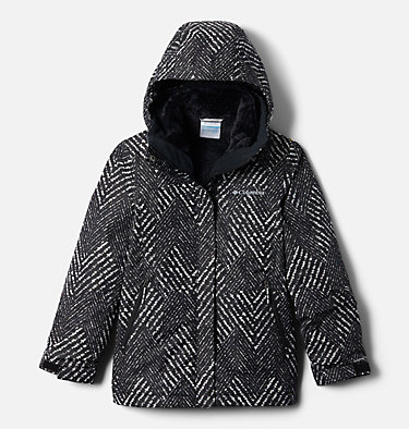 Manteau Interchange en laine polaire Bugaboo II pour fille Bugaboo™ II Fleece Interchange Jacket | 575 | XS, Black Chevron Print, front