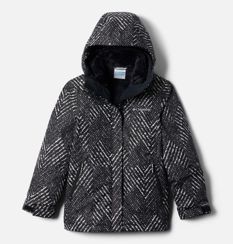 Bugaboo™ II Fleece Interchange Jacket | 012 | L Girls' Bugaboo™ II Fleece Interchange Jacket, Black Chevron Print, front