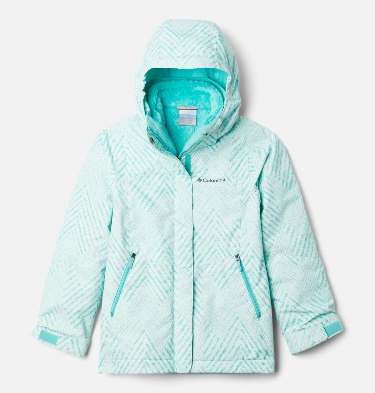Bugaboo™ II Fleece Interchange Jacket | 356 | XS Girls' Bugaboo™ II Fleece Interchange Jacket, Dolphin Chevron Print, front