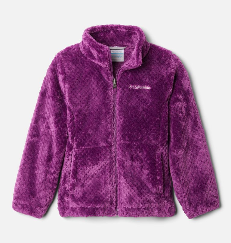Bugaboo™ II Fleece Interchange Jacket | 575 | XS Girls' Bugaboo™ II Fleece Interchange Jacket, Plum Chevron Print, a2