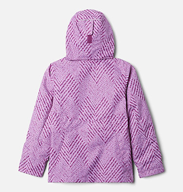 Manteau Interchange en laine polaire Bugaboo II pour fille Bugaboo™ II Fleece Interchange Jacket | 575 | XS, Plum Chevron Print, back