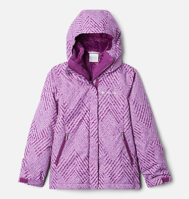 Girls' Bugaboo™ II Fleece Interchange Jacket Bugaboo™ II Fleece Interchange Jacket | 013 | XL, Plum Chevron Print, front