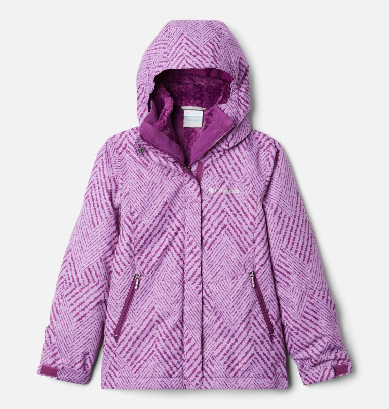 Bugaboo™ II Fleece Interchange Jacket | 575 | XS Girls' Bugaboo™ II Fleece Interchange Jacket, Plum Chevron Print, front