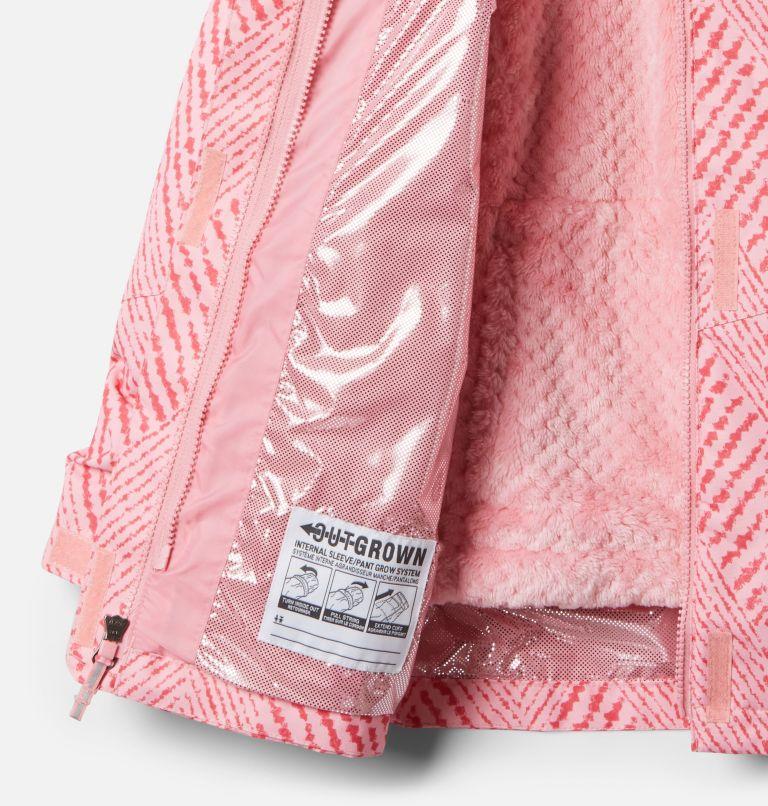 Bugaboo™ II Fleece Interchange Jacket | 689 | XL Girls' Bugaboo™ II Fleece Interchange Jacket, Pink Orchid Chevron Print, a1