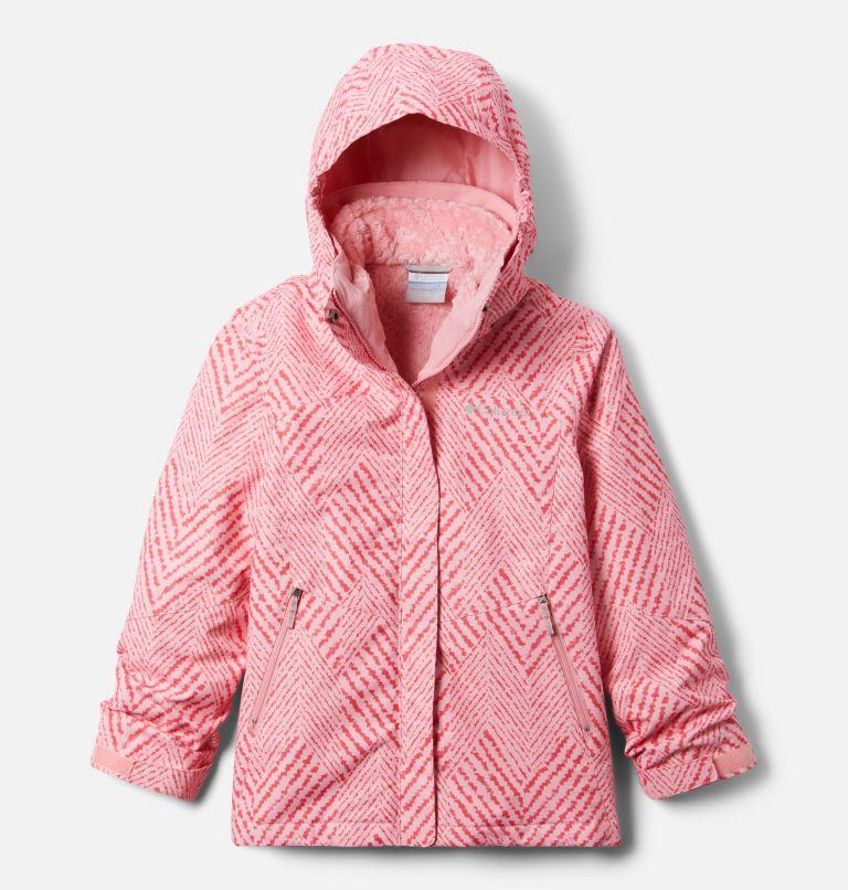 Bugaboo™ II Fleece Interchange Jacket | 689 | XL Girls' Bugaboo™ II Fleece Interchange Jacket, Pink Orchid Chevron Print, front
