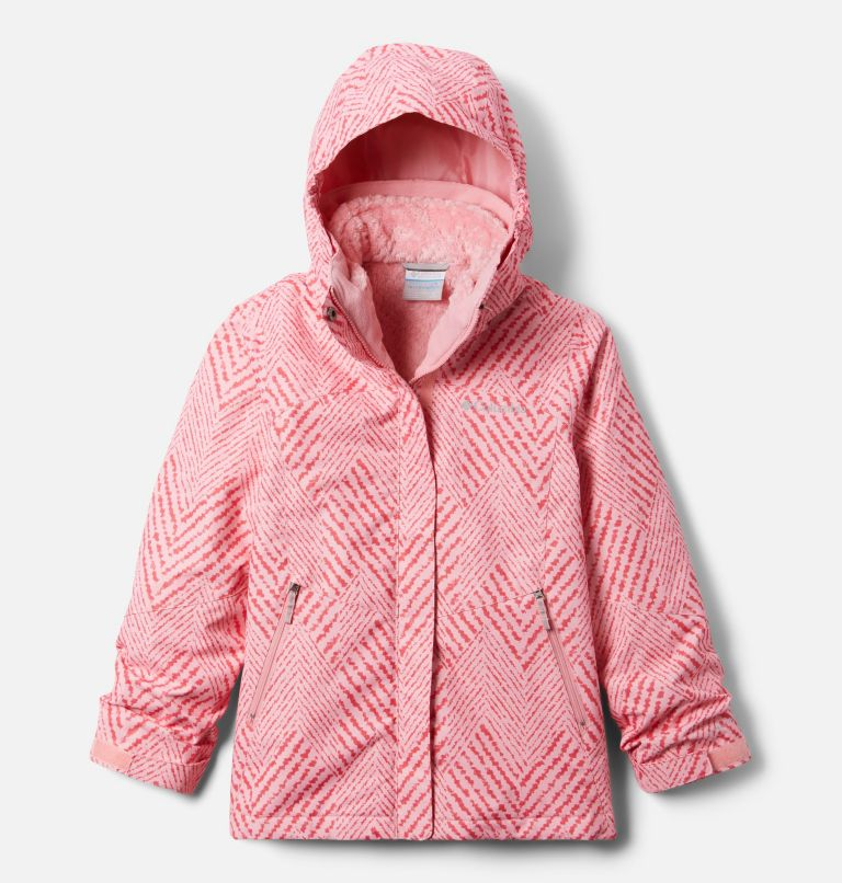 Bugaboo™ II Fleece Interchange Jacket   689   XS Girls' Bugaboo™ II Fleece Interchange Jacket, Pink Orchid Chevron Print, front