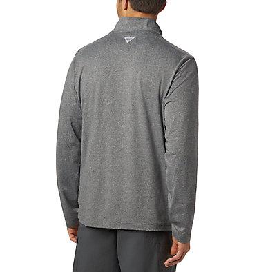 Men's PFG Slack Tide™ 1/4 Zip Pullover Slack Tide™ 1/4 Zip   021   XS, Black Heather, back