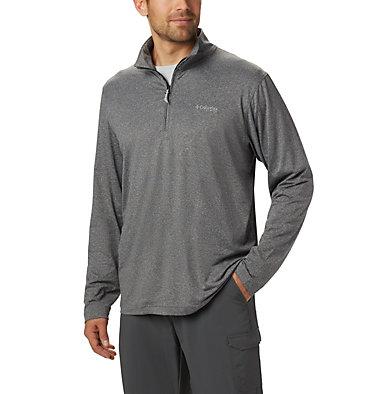 Men's PFG Slack Tide™ 1/4 Zip Pullover Slack Tide™ 1/4 Zip   021   XS, Black Heather, front