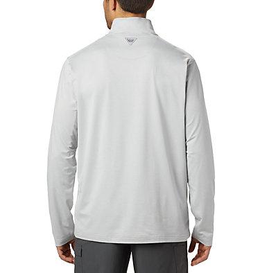Men's PFG Slack Tide™ 1/4 Zip Pullover Slack Tide™ 1/4 Zip   021   XS, Cool Grey Heather, back