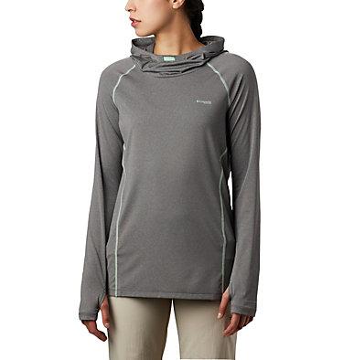 Women's PFG Tamiami™ Heather Knit Hoodie Tamiami™ Heather Knit Hoodie | 426 | L, City Grey, New Mint, front