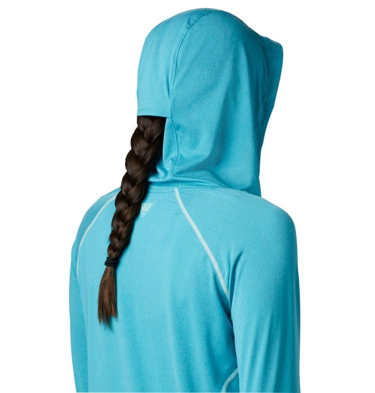 Tamiami™ Heather Knit Hoodie | 450 | XL Women's PFG Tamiami™ Heather Knit Hoodie, Clear Water, Light Mint, a2