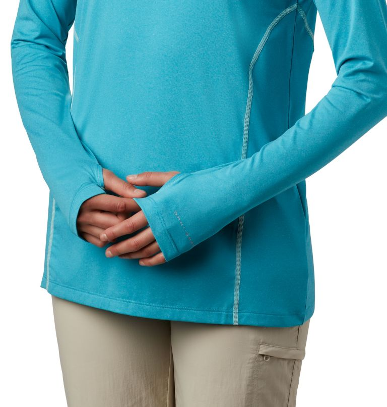 Tamiami™ Heather Knit Hoodie | 450 | XL Women's PFG Tamiami™ Heather Knit Hoodie, Clear Water, Light Mint, a3