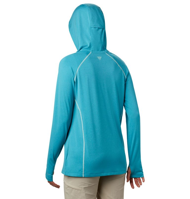 Tamiami™ Heather Knit Hoodie | 450 | XL Women's PFG Tamiami™ Heather Knit Hoodie, Clear Water, Light Mint, back