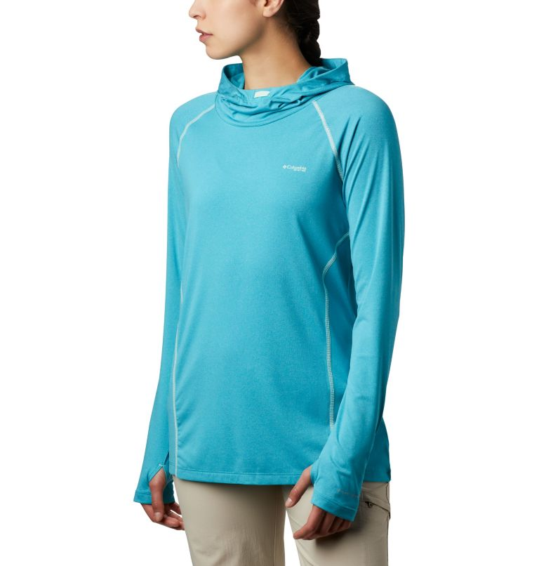Tamiami™ Heather Knit Hoodie | 450 | XL Women's PFG Tamiami™ Heather Knit Hoodie, Clear Water, Light Mint, front