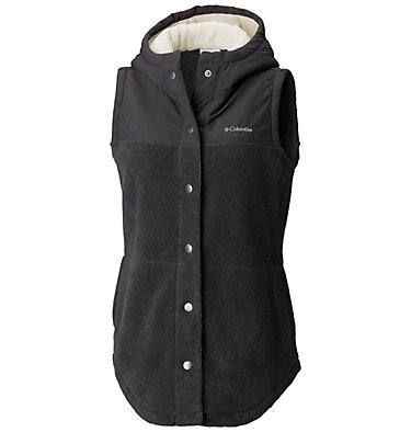 Women's Benton Springs™ Overlay Vest Benton Springs™ Overlay Vest | 613 | L, Charcoal Heather, Shark, front