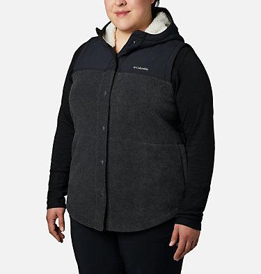 Women's Benton Springs™ Overlay Vest - Plus Size Benton Springs™ Overlay Vest | 473 | 1X, Charcoal Heather, Shark, front