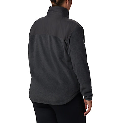 Benton Springs™ Overlay Fleece Benton Springs™ Overlay Fleece | 032 | 1X, Charcoal Heather, Shark, back