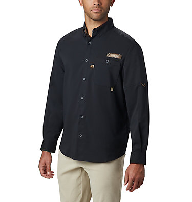 Men's PHG Bucktail™ Long Sleeve Woven Shirt Bucktail™ LS Woven | 466 | M, Black, RT Edge, front