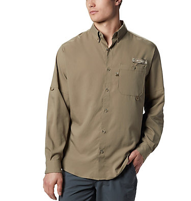 Men's PHG Bucktail™ Long Sleeve Woven Shirt Bucktail™ LS Woven | 466 | M, Flax, RT Edge, front