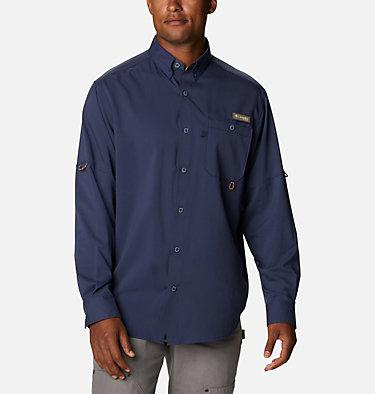 Men's PHG Bucktail™ Long Sleeve Woven Shirt Bucktail™ LS Woven | 466 | M, Nocturnal, RT Edge, front