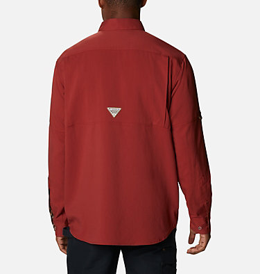 Men's PHG Bucktail™ Long Sleeve Woven Shirt Bucktail™ LS Woven | 466 | M, Red Oxide, RT Edge, back