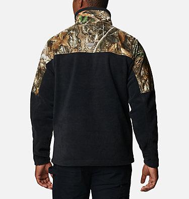 Men's PHG™ Fleece Overlay 1/4 Zip Pullover PHG™ Fleece Overlay 1/4 Zip | 250 | XL, Black, RT Edge, back