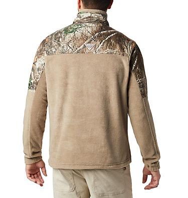 Men's PHG™ Fleece Overlay 1/4 Zip Pullover PHG™ Fleece Overlay 1/4 Zip | 250 | XL, Flax, RT Edge, back