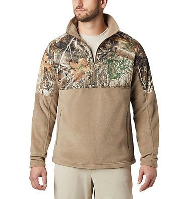 Men's PHG™ Fleece Overlay 1/4 Zip Pullover PHG™ Fleece Overlay 1/4 Zip | 250 | XL, Flax, RT Edge, front