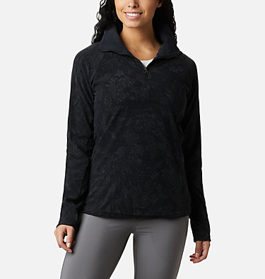 Women's Glacial™ IV 1/2 Zip - Patterned Print  Glacial™ IV Print 1/2 Zip | 016 | XS, Black Dotty Floral, front