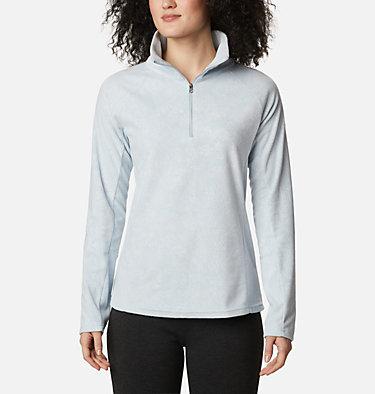 Women's Glacial™ IV Print Half Zip Pullover Glacial™ IV Print 1/2 Zip | 472 | XXL, Cirrus Grey Dotty Floral, front