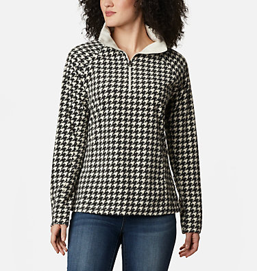 Women's Glacial™ IV Print Half Zip Pullover Glacial™ IV Print 1/2 Zip | 472 | XS, Chalk Houndstooth, front