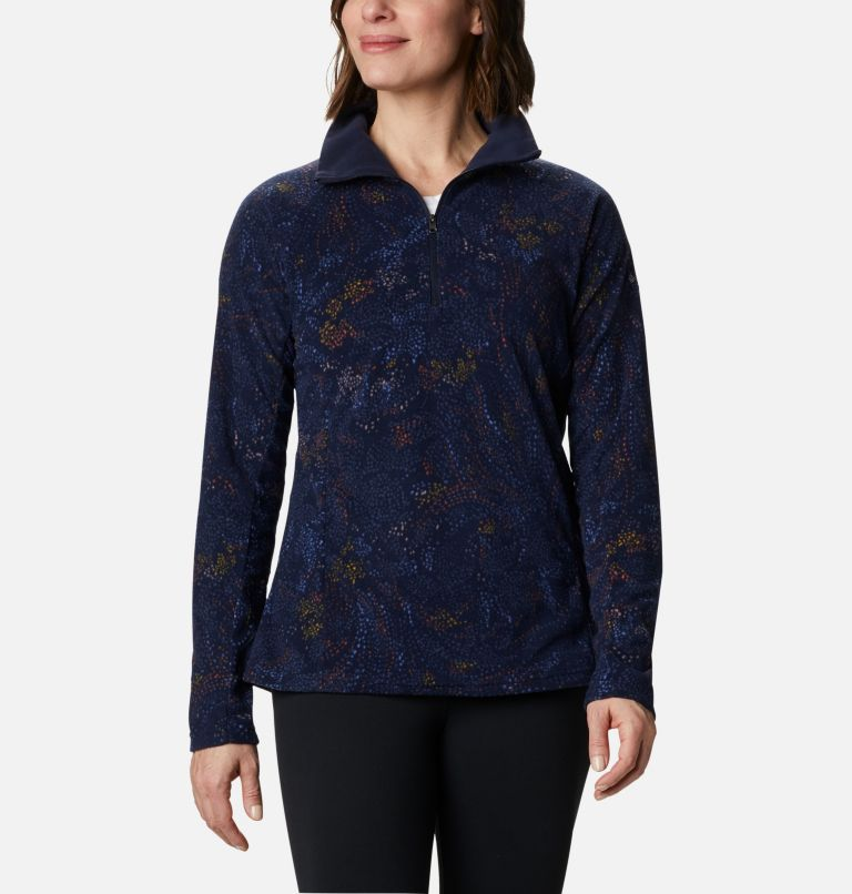 Glacial™ IV Print 1/2 Zip | 472 | XL Women's Glacial™ IV 1/2 Zip - Patterned Print , Dark Nocturnal Dotty Floral, front