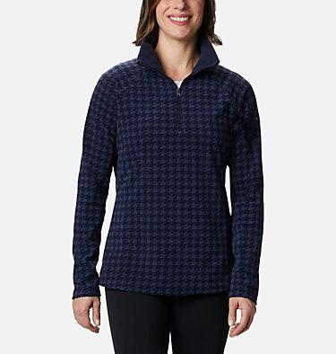 Women's Glacial™ IV Print Half Zip Pullover Glacial™ IV Print 1/2 Zip | 472 | XXL, Dark Nocturnal Houndstooth, front