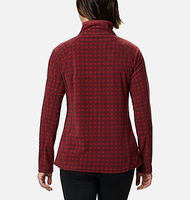 Women's Glacial™ IV Print Half Zip Pullover Glacial™ IV Print 1/2 Zip | 472 | XXL, Marsala Red Houndstooth, back