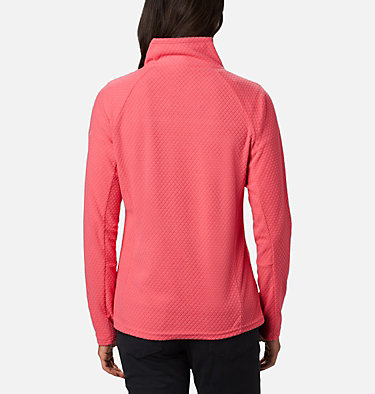 Women's Glacial™ IV 1/2 Zip - Patterned Print  Glacial™ IV Print 1/2 Zip | 016 | XS, Bright Geranium Quilt Pattern, back