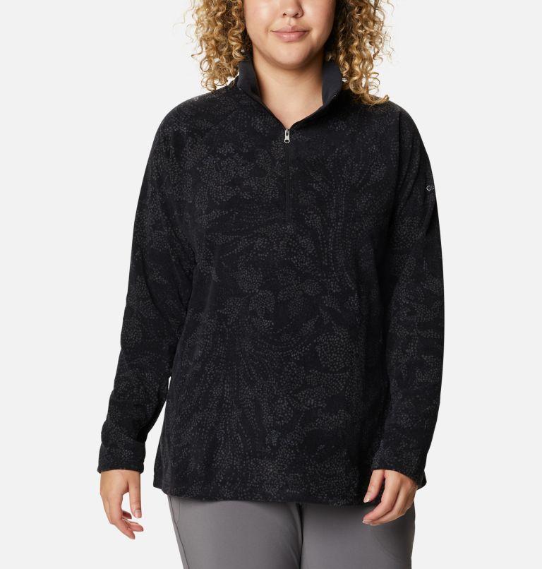 Women's Glacial™ IV Print Half Zip Pullover - Plus Size Women's Glacial™ IV Print Half Zip Pullover - Plus Size, front