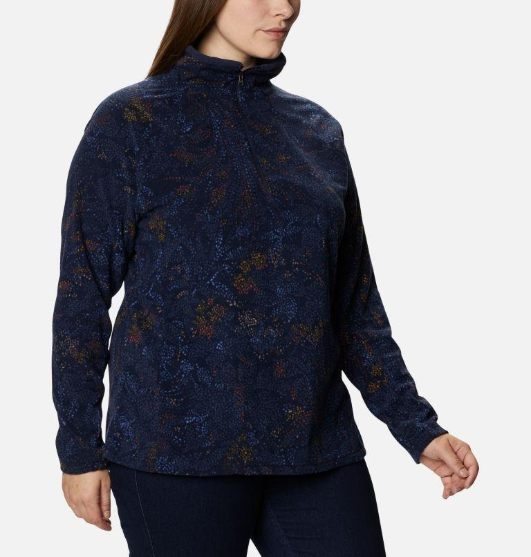 Glacial™ IV Print 1/2 Zip | 472 | 2X Women's Glacial™ IV Print Half Zip Pullover - Plus Size, Dark Nocturnal Dotty Floral, a3