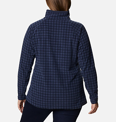 Women's Glacial™ IV Print Half Zip Pullover - Plus Size Glacial™ IV Print 1/2 Zip | 033 | 1X, Dark Nocturnal Houndstooth, back