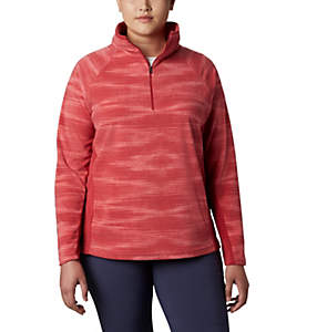 Women's Glacial™ IV Print Half Zip Pullover - Plus Size