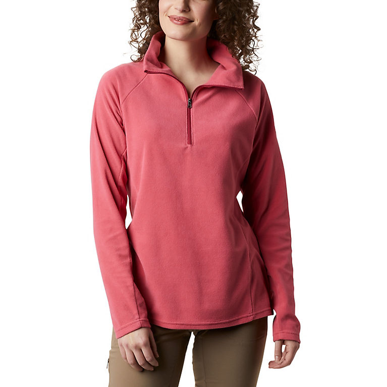 Rouge Pink Women's Glacial™ IV Half Zip Fleece, View 0