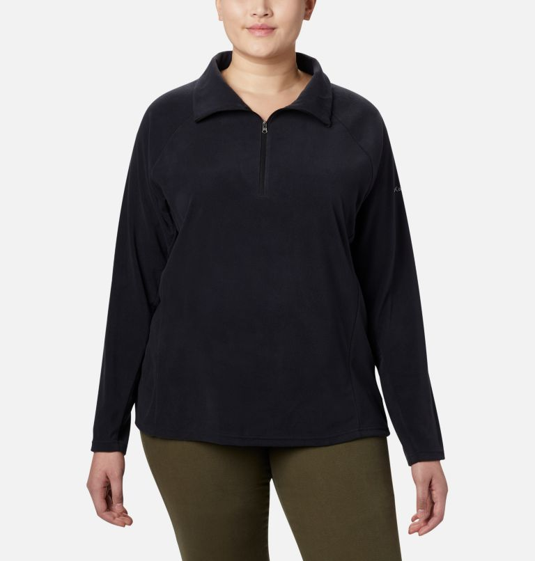 Glacial™ IV 1/2 Zip | 010 | 1X Women's Glacial™ IV 1/2 Zip - Plus Size, Black, front