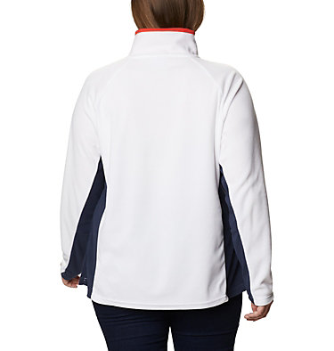 Women's Glacial™ IV 1/2 Zip - Plus Size Glacial™ IV 1/2 Zip | 430 | 1X, White, Dark Nocturnal, back
