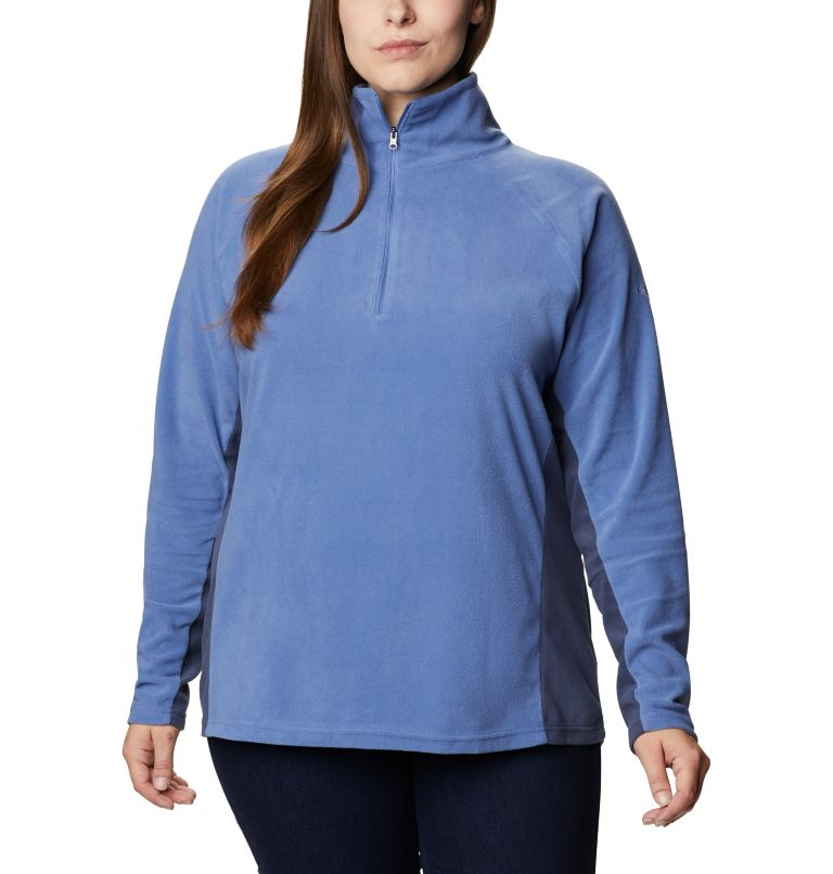 Glacial™ IV 1/2 Zip   458   1X Women's Glacial™ IV 1/2 Zip - Plus Size, Velvet Cove, Nocturnal, front