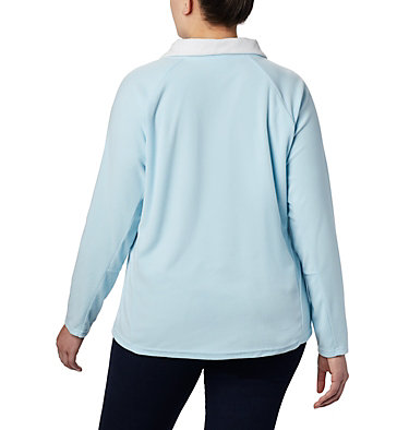 Women's Glacial™ IV 1/2 Zip - Plus Size Glacial™ IV 1/2 Zip | 430 | 1X, Spring Blue, back